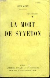 Des Enigmes Tome 1 : La Mort De Syveton. - Couverture - Format classique