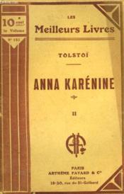 Anna Karenine. Tome 2. Collection : Les Meilleurs Livres N° 151. - Couverture - Format classique