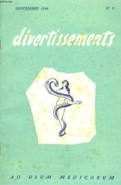 Divertissements, Ad Usum Medicorum N°9, Septembre 1956. - Couverture - Format classique