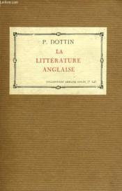 La Litterature Anglaise - Couverture - Format classique