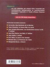 Zola ; thérèse raquin - 4ème de couverture - Format classique