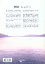 Prier les anges - 4ème de couverture - Format classique