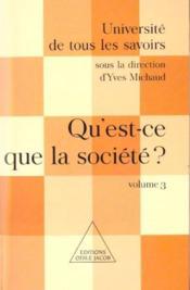 Qu'Est-Ce Que La Societe ? - Couverture - Format classique