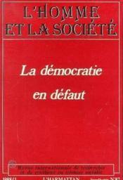 Democratie En Defaut - Couverture - Format classique