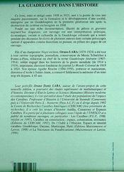 La Guadeloupe dans l'histoire - 4ème de couverture - Format classique