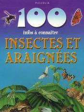 100 Infos A Connaitre ; Insectes Et Araignées - Intérieur - Format classique