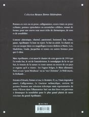 Apollinaire - 4ème de couverture - Format classique