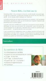 La nutrition de bébé - 4ème de couverture - Format classique