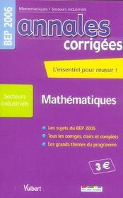 Annales corrigees t.24 ; mathematiques bep industriel - Intérieur - Format classique