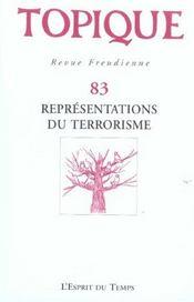 Representations Du Terrorisme N 83 2003 - Intérieur - Format classique