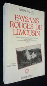 Paysans Rouges Du Limousin Mentalites Et Comportement - Couverture - Format classique