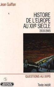 Histoire europe tome 2 - Couverture - Format classique