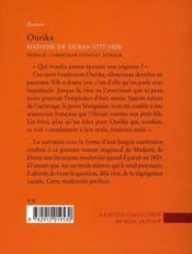Ourika - 4ème de couverture - Format classique