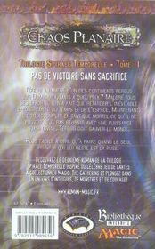 Trilogie spirale temporelle t.2 ; chaos planaire - 4ème de couverture - Format classique