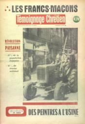 Temoignage Chretien N°885 du 23/06/1961 - Couverture - Format classique