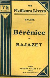 Berenice Suivi De Bajazet. Collection : Les Meilleurs Livres N° 92. - Couverture - Format classique