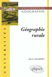 Geographie Rurale - Intérieur - Format classique