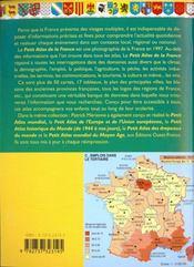 Petit Atlas De La France - 4ème de couverture - Format classique