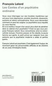 Les Contes D'Un Psychiatre Ordinaire - 4ème de couverture - Format classique