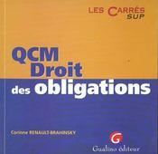 Qcm Droit Des Obligations - Intérieur - Format classique