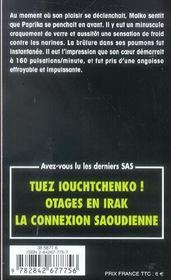 SAS t.41 ; embargo - 4ème de couverture - Format classique