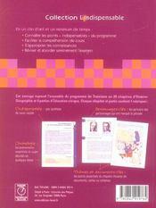 Histoire-geographie-education civique 3eme - 4ème de couverture - Format classique