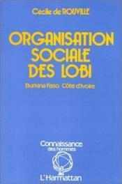 Organisation sociale des lobi - Couverture - Format classique