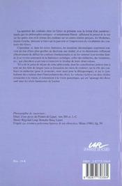 Couleurs Et Vision Dans L'Antiquite Classique - 4ème de couverture - Format classique
