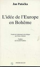 L'idee de l'europe en boheme - Couverture - Format classique