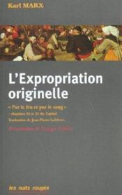 L'Expropriation Originelle - Couverture - Format classique