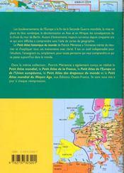 Petit Atlas Historique Du Monde (De 1944 A Nos Jours) - 4ème de couverture - Format classique
