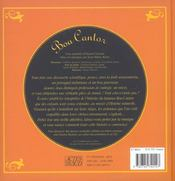 Le boa cantor (+1cd) - 4ème de couverture - Format classique