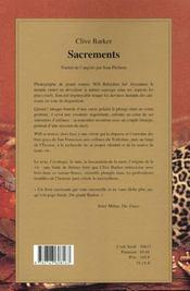 Sacrements - 4ème de couverture - Format classique