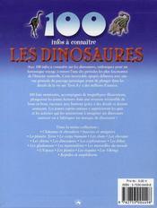 100 Infos A Connaitre ; Les Dinosaures - 4ème de couverture - Format classique