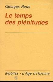 Temps Des Plenitudes - Couverture - Format classique