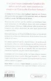 La Faillite De La France ; Les Chiffres De La France Ramenes A L'Echelle De Nos Budgets Personnels - 4ème de couverture - Format classique