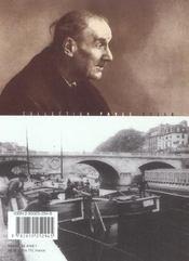 Atget-Paris - 4ème de couverture - Format classique