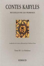 Contes Kabyles N.3 Le Fabuleux - Intérieur - Format classique