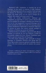 Le troubadour alchimiste - 4ème de couverture - Format classique