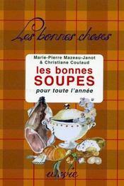 Les Bonnes Soupes Pour Toute L'Annee - Intérieur - Format classique