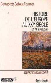 Histoire de l europe au xx siecle t.5 - Couverture - Format classique
