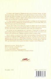 Flaubert - Le Poittevin - Maupassant. Une Affaire De Famille Litterai Re. Colloque International Ten - 4ème de couverture - Format classique