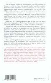 Diaconnesses Dans L'Eglise D'Hier Et De Demain - 4ème de couverture - Format classique