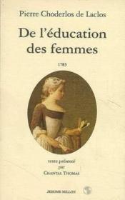 De L'Education Des Femmes - Couverture - Format classique