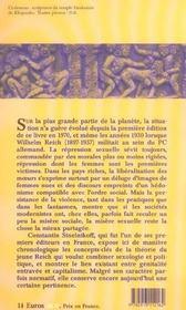 L'oeuvre de wilhelm reich - 4ème de couverture - Format classique