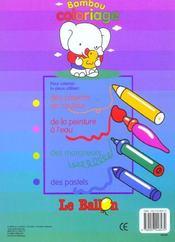 Bambou coloriage canard - 4ème de couverture - Format classique