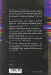 A Vos Maths Ecs 10 Ans De Sujets Poses Aux Concours Exercices Et Problemes Corriges Nouveau Program. - 4ème de couverture - Format classique