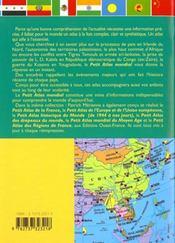 Petit Atlas Mondial - 4ème de couverture - Format classique