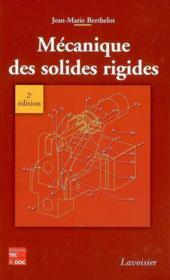 Mecanique des solides rigides (2e edition) - Couverture - Format classique