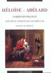 Heloise-Abelard ; Correspondance - Intérieur - Format classique